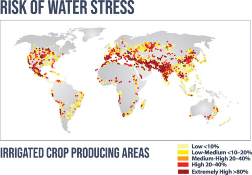 Graphic: Risk of global water Stress points